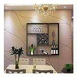 Flaschenregal - GMING Rack Wandbehang Rack Diamantgitter Weinschrank Kreative Lagerregal Weinregal Wein Vitrine Einfach (Size : 90x90x23cm)