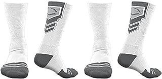 EvoShield Performance Crew Socks (White w/ Gray / X-Large / 2 Pair)