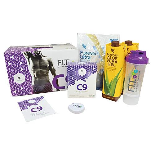 FOREVER CLEAN 9 - Vanilla - Aloe Vera Gel | Garcinia Plus, Therm, Fiber, Ultra Shake Mix | Versorgt mit allen wichtigen Vitaminen, Mineralstoffen und Spurenelementen