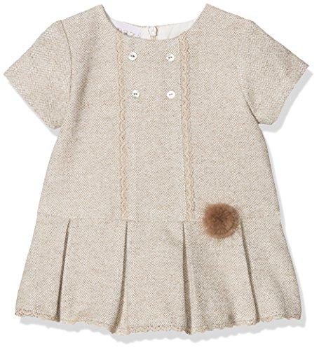 PAZ Rodriguez 004-85902 Vestido, Marrón (Tierra), Recién Nacido (Tamaño del Fabricante:6M) para Bebés