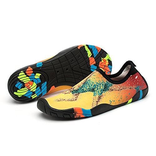Zapato de Agua Skin Shoes Quick-Dry Hombres Mujeres Zapatillas para el Agua, los Zapatos de Piel de Peso Ligero, Descalzos Unisex Aqua Calcetines Calzado para Playa Surf Buceo Nadar Yoga Caminar Lago