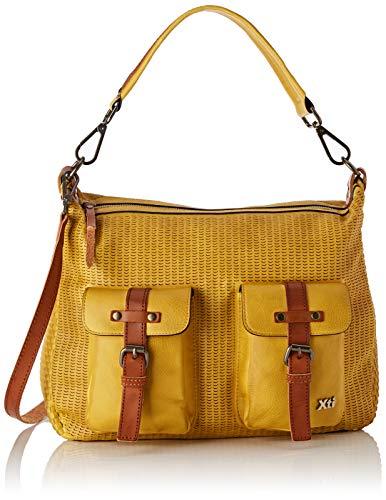 XTI 86245.0, Bolso bolera para Mujer, Amarillo (Amarillo), 34x23x16 cm (W x H x L)