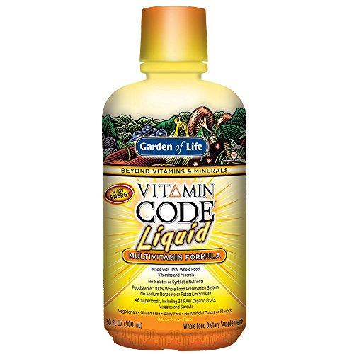 Garden of Life, Vitamin Code Liquid Multivitamin (flüssige Multivitamin Formel), Orangen-Mango Geschmack, 900ml