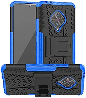 Prime Retail Poly Carbonate Back Cover for Vivo S1 Pro - Blue