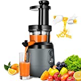 Slow Masticating Juicer Extractor, HAYKE Juicer with Quiet Motor and Reverse Function, Easy to Clean...