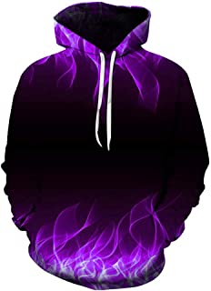 Teens Realistic Hoodie Unisex 3D Print Pullover Hooded Plus Hooded Sweatshirt Casual with Big Pockets