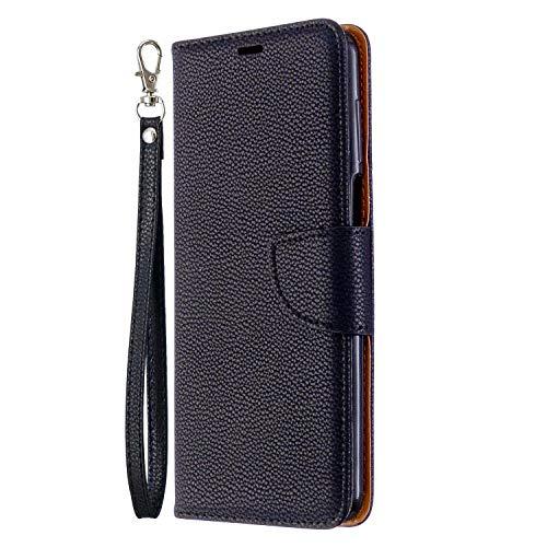 für Xiaomi Poco F3 5G/ Mi 11i/ Redmi K40/ K40 Pro Hülle Flip Lederhülle Handyhülle Book PU Leder Hülle Tasche mit Kartenfach & Magnet Ständer Schutzhülle Handytasche Handy Hüllen schwarz