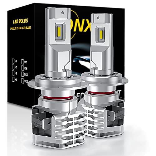 Bombilla H7 LED Coche, 6500K Blanco Luces CREE Chip Todo en uno Luz Lampara, DC 12V-24V Faros de Carretera y Haz Bajo Kit de Reemplazo,1 Par. [Garantía de 2 años]
