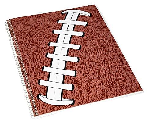 Pigskinz Spiral Notebook - Textured Football Notepad Feels Like A Real Football