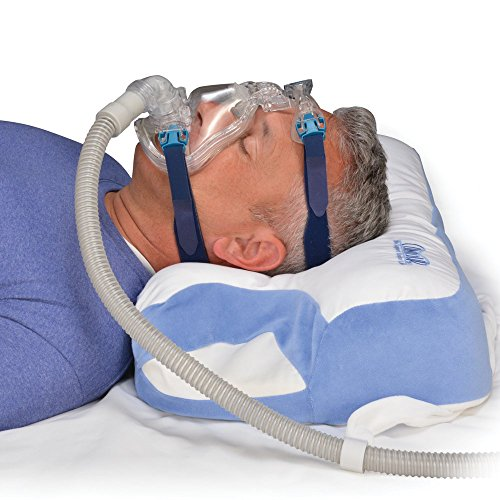 Contour CPAP - Almohada compatible con aparato CPAP, de 6 zonas, fiable (altura regulable) (SomniShop Set K100)
