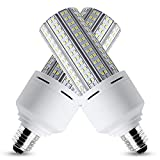 LED Corn Light Bulb 600W Equivalent LED Corn Lamp 7500 Lumen 60W Large Area Cool Daylight White E26/E27 Medium Base for Outdoor Indoor Garage Warehouse Factory Workshop Street Backyard (2 Pack)