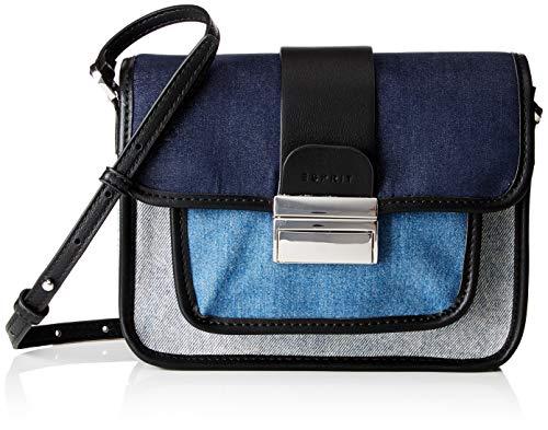 Esprit Accessoires dames 098ea1o039 schoudertas, blauw (blauw), 6x16x22 cm