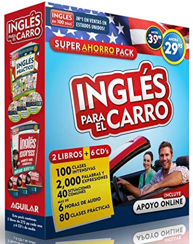 Curso de ingl s para el carro Ingl s en 100 d as English in the Car Ahorro Audio Pack Ingles product image