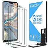 MAYtobe [4 Pack] Tempered Glass For LG G7 ThinQ Screen Protector with Easy Installation Tray, anti Scratch, Bubble Free, 2.5D Edge, 9H Hardness