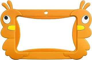 7 Kids Tablet Case Tablet Case for Kids Portable Shockproof Protective Case Cover for TOPELOTEK Kids Tablet (Orange)