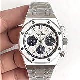 HHBB Marca de lujo Hombres Plata Azul Reloj Cronógrafo Zafiro Acero Inoxidable Oro Rosa Cronómetro Luminoso Negro Relojes Aaa+, blanco