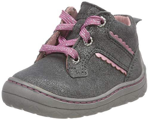Superfit Mädchen SATURNUS Sneaker, Grau (Grau/Rosa 20), 21 EU