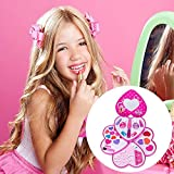 PITCHBLA Kids Makeup Set Pretend Playset Carry Case Heart Shaped Educational Dress Up Pretend Play Toy Set Gift for Children Exceptional