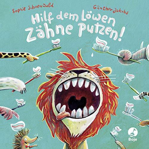 Hilf dem Löwen Zähne putzen! (Pappbilderbuch) (Ignaz Igel)