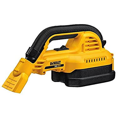 DEWALT DCV517B Baretool 20V MAX Cordless 1/2 gallon Wet/Dry Portable Vac Kit