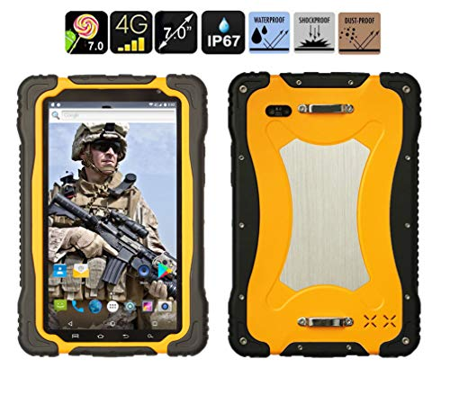 Rugged Tablet Mobile, Terminale IOT Industriale 4G LTE IP67 7.0 'Android 7.0 ARM Cortex A53 Quad-core 1.5GHz 3GB RAM + 32GB ROM Impermeabile Antiurto e Antipolvere Tablet Sbloccato