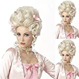AILIWEI Marilyn Monroe Halloween Costume Wig Party Costume Short Bob Blonde Synthetic Women Curly Wavy Cosplay Hair.