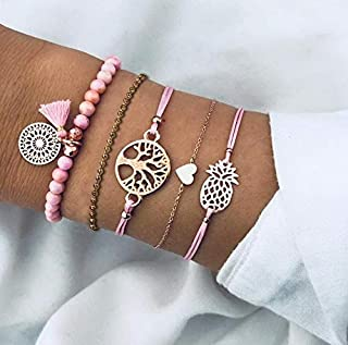 Fashion Charm Women Stainless Steel Lots Style Bracelet Bangle Chain Jewelry