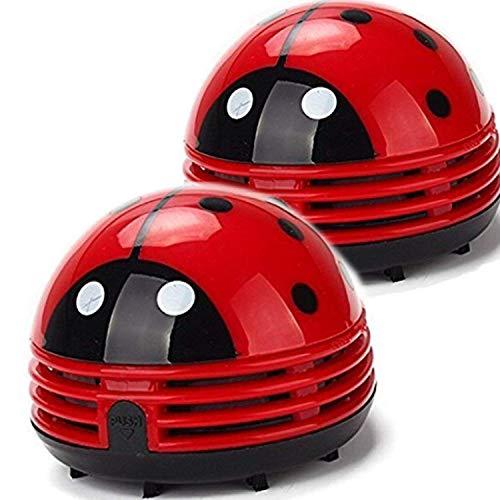 Ladybug Staubsauger – Mini-Staubsauger tragbarer Eck-Schreibtisch-Staubsauger Mini niedlicher Staubsauger Staubkehrer 2 Stück