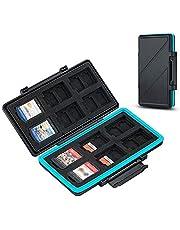 Estuche para tarjetas de memoria de 36 ranuras resistente al agua para 12 Nintendo Switch Game Card, NS Card + 24 Micro SD SDXC SDHC