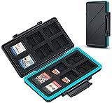 JJC 36 Steckplätze Speicherkarten Etui Tasche Aufbewahrung für 24 Micro SD SDXC SDHC + 12 Nintendo Switch Spielkarten (NS Karte), Wasserdicht SD Speicherkarten Schutzbox Tragetasche Karten Hülle Box