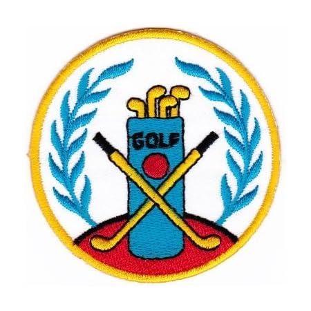 Golf Sew-On Badge / Iron-On Patch ca. 7 x 7 cm