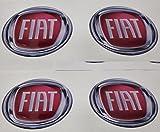 BORCHIE FIAT GTBTUNING 60 mm Tuning Effetto 3D 3m resinato coprimozzi Borchie Caps Adesivi Stickers per Cerchi in Lega x 4 Pezzi