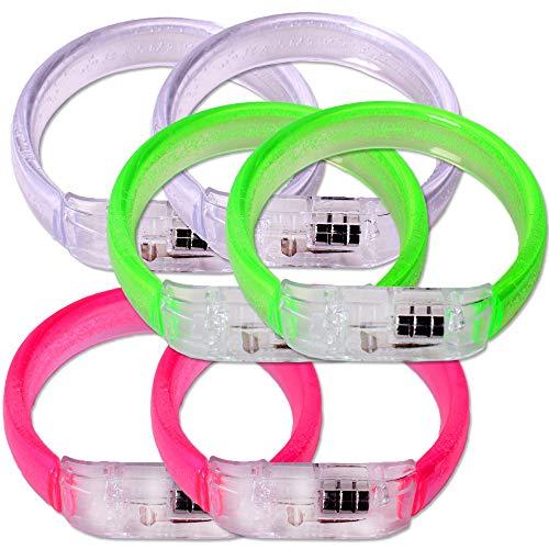 TE-Trend Armband LED 1 CS0704 6er Set 3-Fach Sortiert