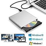 Zacfton Externes CD DVD Laufwerk USB 2.0, CD-RW DVD-R CD Brenner für Laptop Notebook PC...