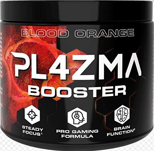 PL4ZMA® Gaming Booster mit B5 für Konzentration, Ausdauer und Reaktionsfähigkeit | Nootropic mit Alpha GPC, Koffein und L-Theanin für E-Sports, Workout, Fitness | Geschmack: Blutorange
