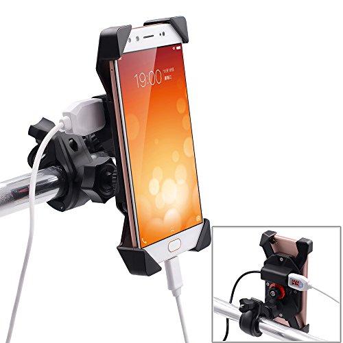 BlueFire 「改良型」バイクホルダー スマホ用 自転車ホルダー 脱落防止 iPhone7/7 Plus/6/6S/Samsung Galax...