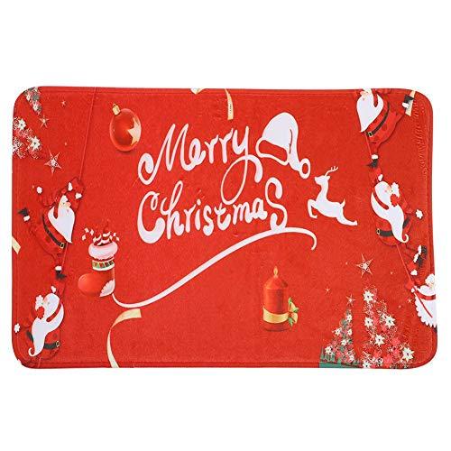 Fdit Kerstmis deurmat vloertapijten Santa Kerstmis patroon anti-slip deurmat absorberend badkamer vloerkleed voor huis keuken MEERWEG OPKING