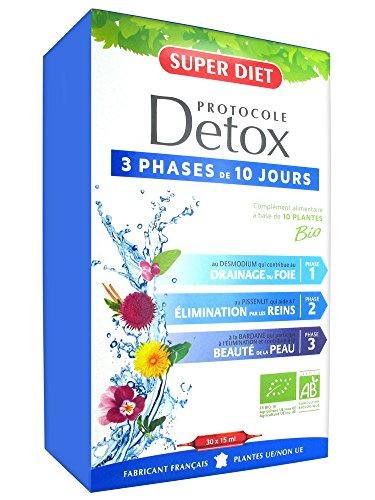 SUPER DIET Protocole Détox - 30 ampoules Bio -