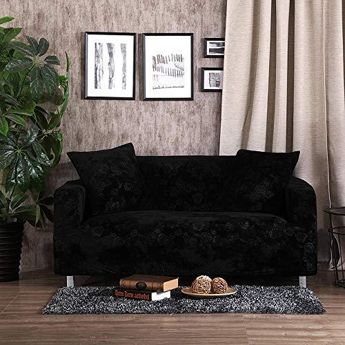Nannan Gold fluwelen stretch sofahoes, zacht en slijtvast all-inclusive meubelsofahoes, geschikt voor L-vormige hoekbank