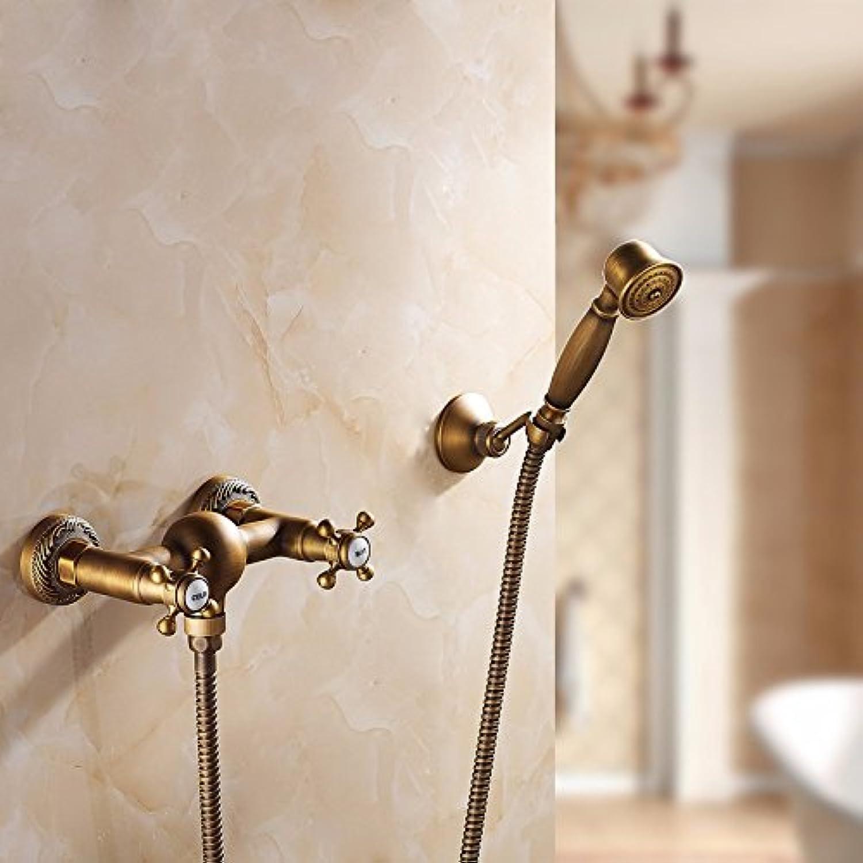 YFF@ILU Alle Kupfer Badewanne Dusche Badewanne Dusche, antike, Kopf, Continental, heier und kalter Dusche einfach, h