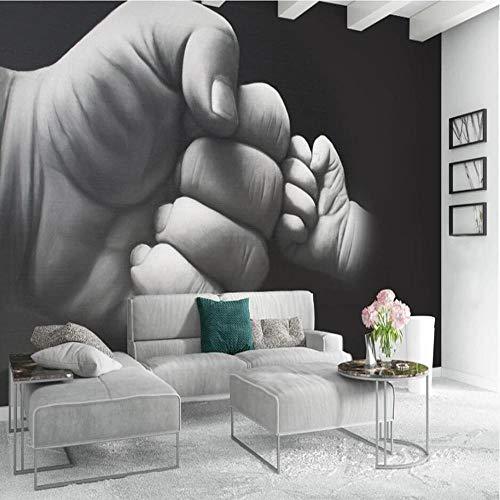 3D vliesbehang foto vlies premium fotobehang handgeschilderd zwart-wit-wandafbeelding -behang wandschilderij 3D 200*140cm #001