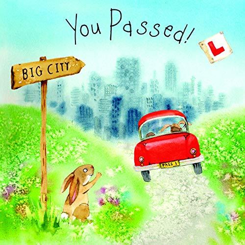 Tarjeta de prueba de conducción Twizler You Passed – Tarjeta de conducción – Tarjeta de felicitación – Tarjeta de prueba de conducción – Tarjeta bien hecha – Tarjeta de coche