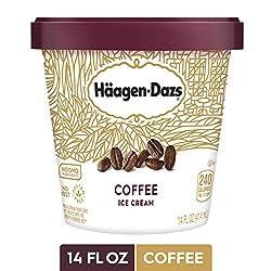 HAAGEN-DAZS Ice Cream, Coffee, 14 Fl. Oz. Cup | No GMO Ingredients | No rBST | Gluten Free