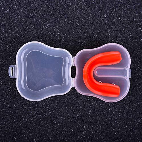 ERSD Boxen Zahnspange Eva Silikon Sanda Basketball Korrektive Zahnspange Adult Chewable Gum Gum Schild (Farbe : ROT, Size : Adult)