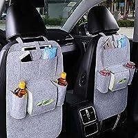 DESIGN PIÙ NUOVO - Questo organizer per il sedile posteriore è ottimo per mantenere la tua auto organizzata, mantenere il tuo posto pulito e proteggerà il tuo sedile da graffi. Coprirà la tua sede completa. Offriamo la migliore qualità fatta per uno ...