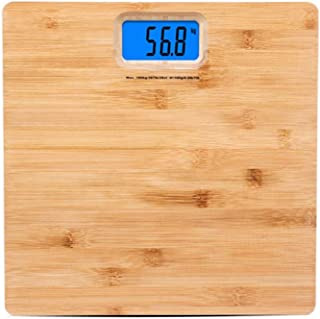 Báscula de pesaje electrónica ultrafina, bambú y madera Básculas electrónicas de peso de la salud humana Escalas de protección ambiental creativa