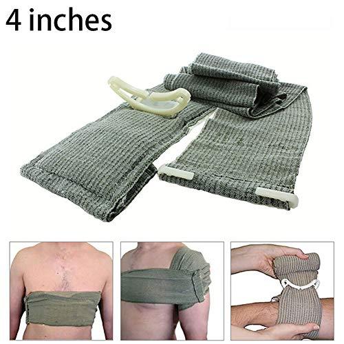 1pc Trauma Bandage Israelischen Notfall Bandage Erste-Hilfe-Werkzeug Medizinische Kompressionsbandage Notfall Trauma Bandage Für Outdoor-Survival-Battle (4 Zoll)