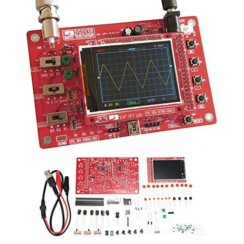 KKmoon DSO138 Digital Oscilloscope Kit KKmoon DSO138 2.4' TFT Handheld Pocket-size Digital Scope Meter Kit DIY Parts SMD Soldered Electronic Learning Set 1Msps