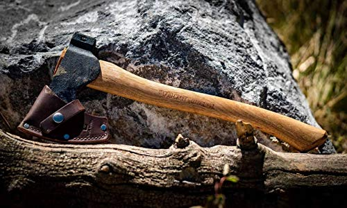 """Council Tool 1.7# Wood-Craft Camp Carver Axe, 16"""" Curved Handle Axe Model - USA Made"""