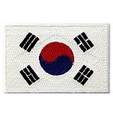 Südkorea-Flagge Koreanisches Nationales Emblem Bestickter Aufnäher zum Aufbügeln/Annähen